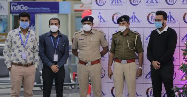 Students of Indiana Design Academy at Surat Airport